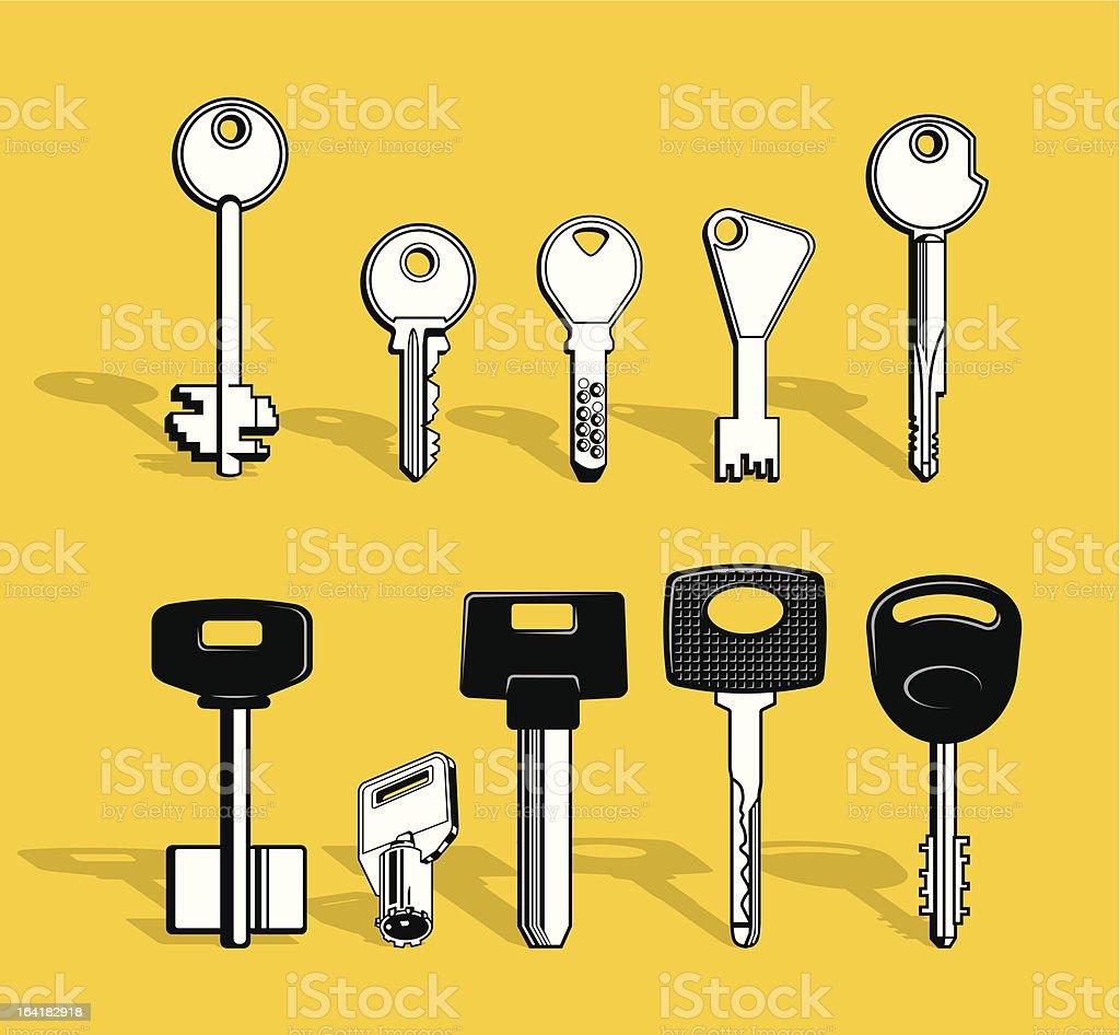 Set of Keys royalty-free set of keys stock vector art & more images of car key