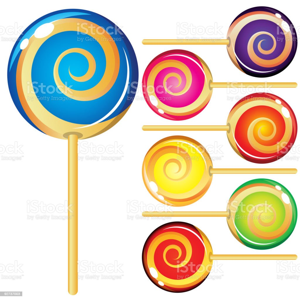 Set of lollypops - Royalty-free Candy stock vector
