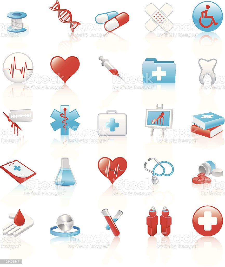 Set of medical icons royalty-free stock vector art
