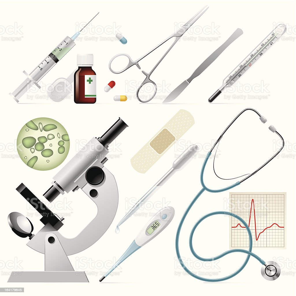 Set of medicine royalty-free stock vector art