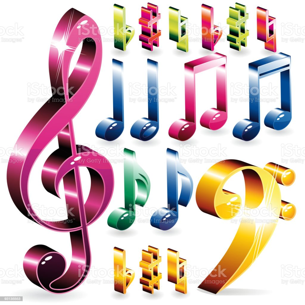 Set of music symbols royalty-free set of music symbols stock vector art & more images of bass clef
