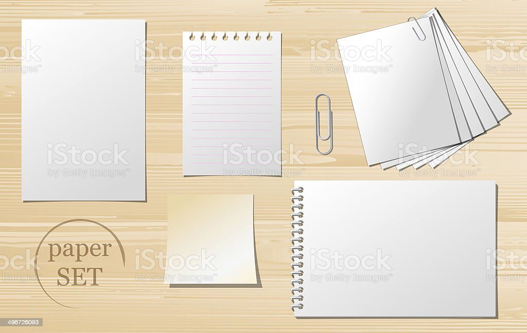 Set of paper sheets royalty-free stock vector art