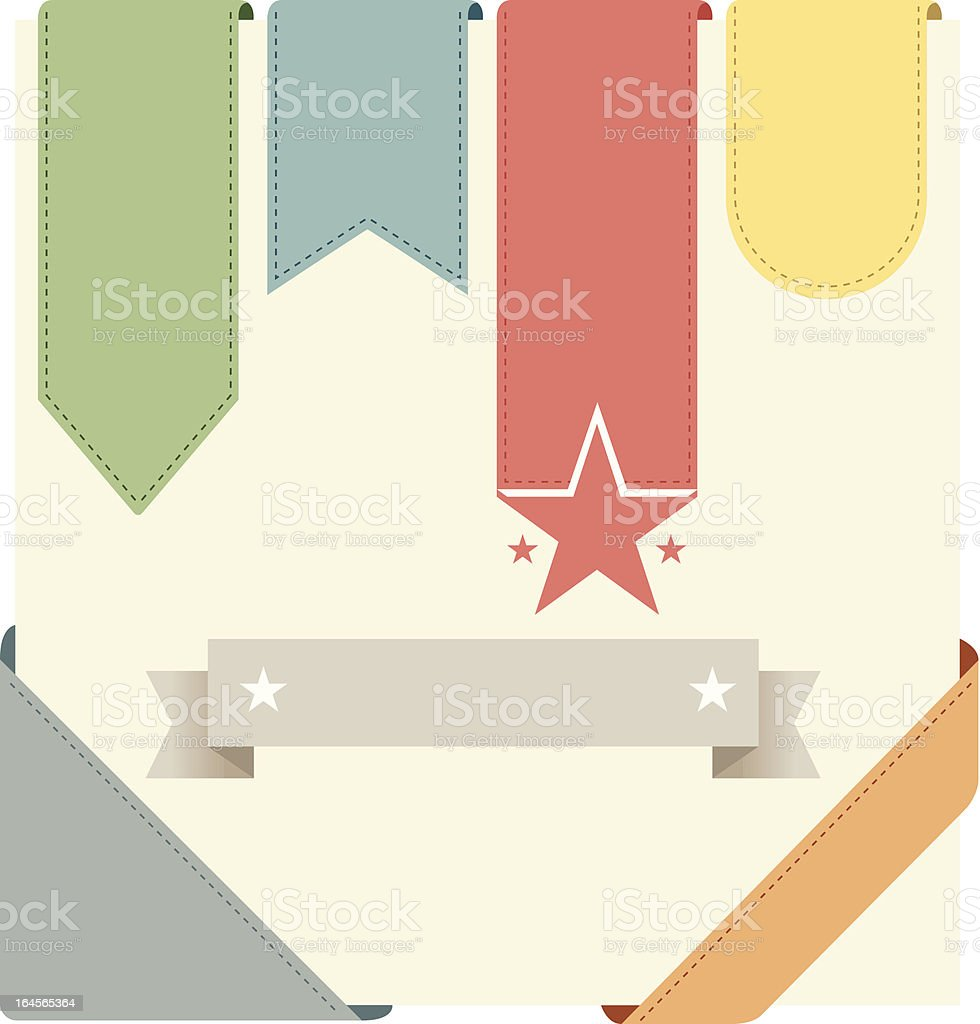 Set of retro ribbons and labels royalty-free stock vector art