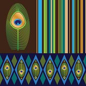 Set of seamless patterns in bright colors