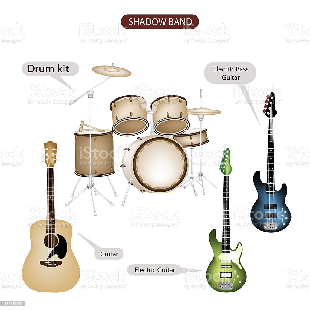 Set Of Shadow Band Music Equipment Stock Vector Art & More