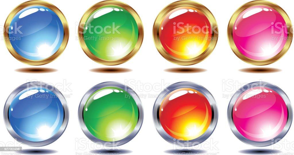 Set of shining vector balls royalty-free stock vector art