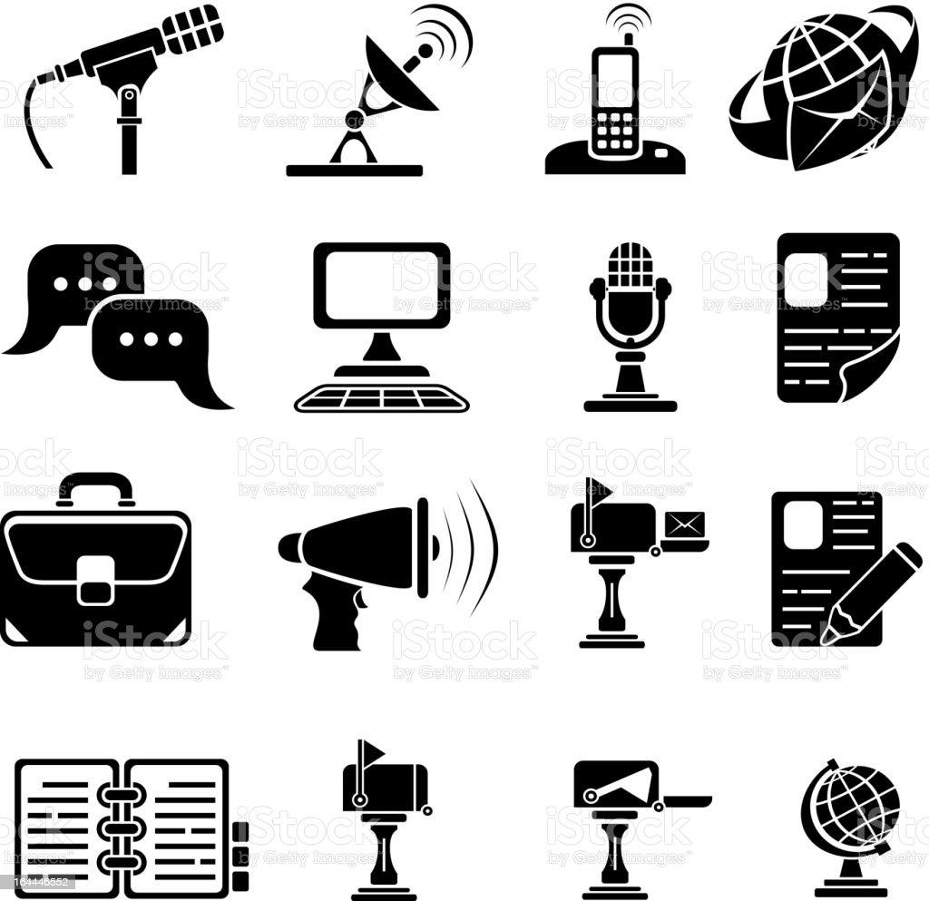 Set of sixteen icons royalty-free stock vector art