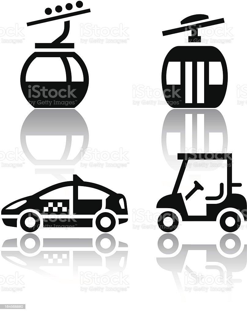 Set of transport icons - sport vector art illustration