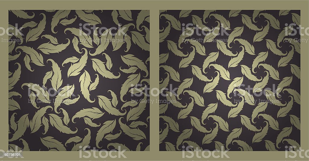 set of two abstract floral seamless - Royalty-free Abstract stock vector