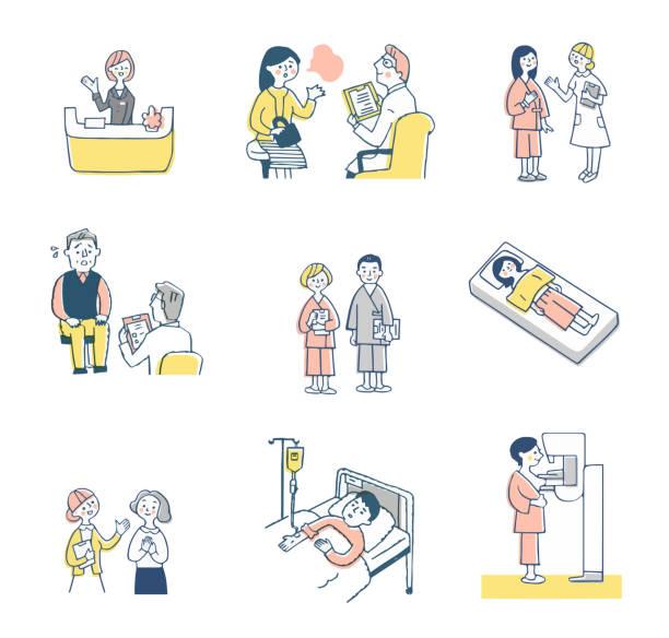 医療分野の様々な人々のセット - 介護点のイラスト素材/クリップアート素材/マンガ素材/アイコン素材
