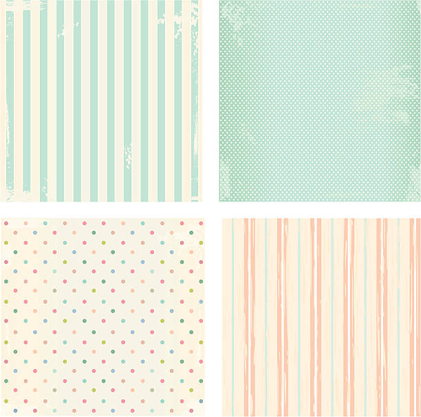 Set of vector backgrounds Collection of vector backgrounds in retro style shabby chic stock illustrations