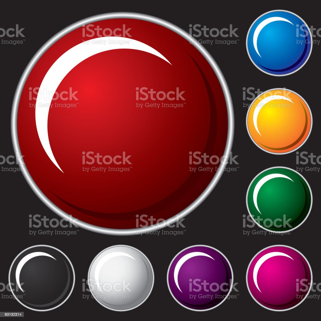 Set of vector buttons royalty-free set of vector buttons stock vector art & more images of black color