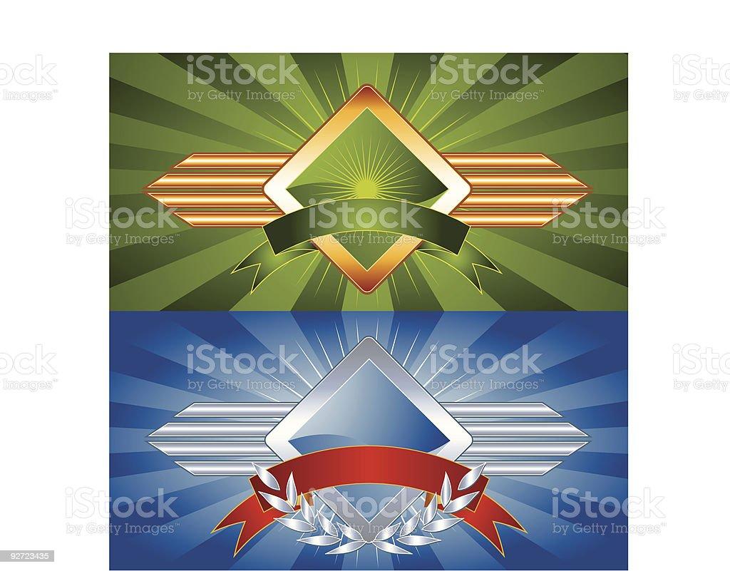 Set of Vector Emblems & Crest royalty-free set of vector emblems crest stock vector art & more images of badge