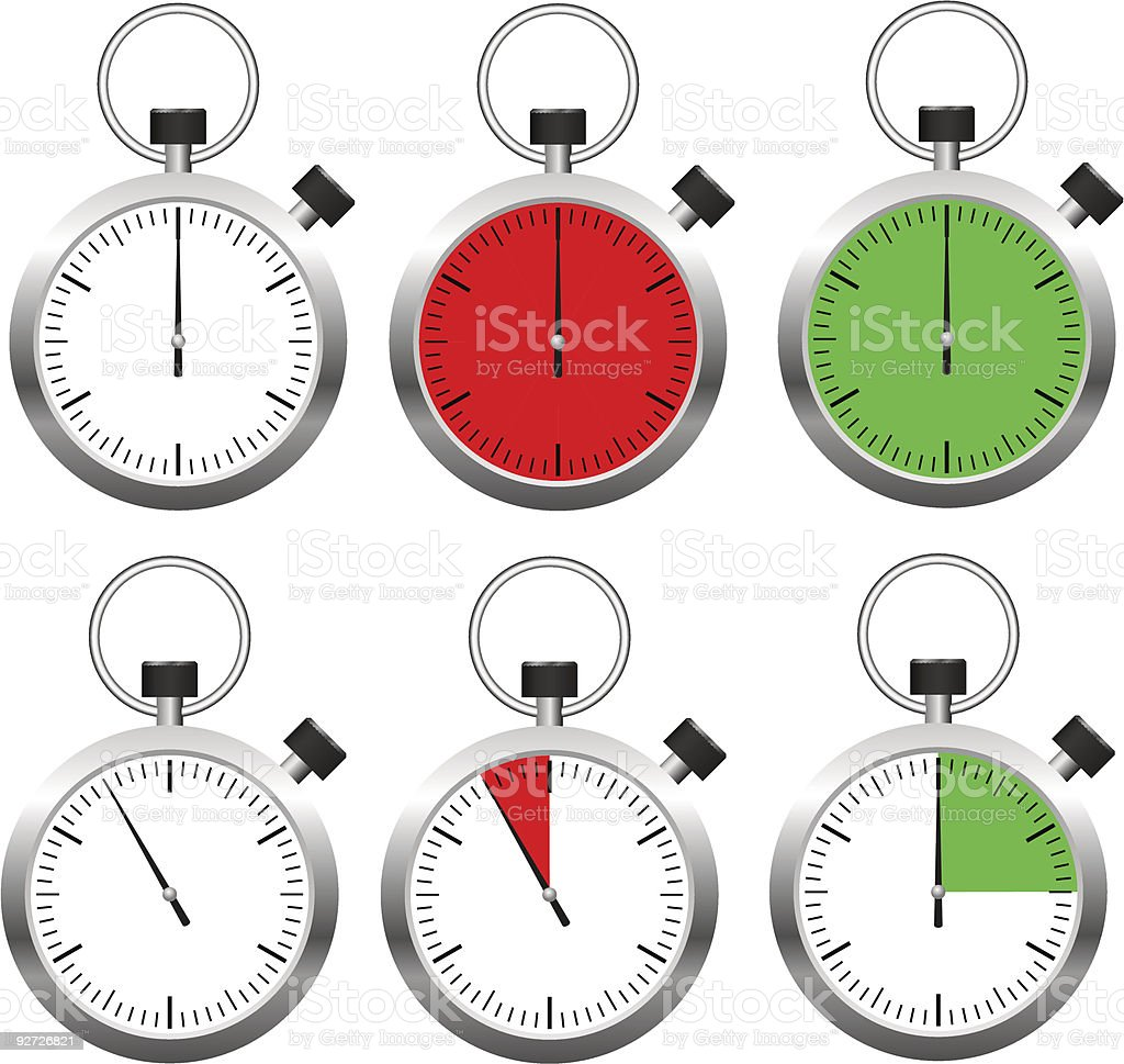 Set of vector stopwatch timers royalty-free set of vector stopwatch timers stock vector art & more images of accuracy