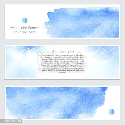 852187968 istock photo Set of watercolor backgrounds 1132753043