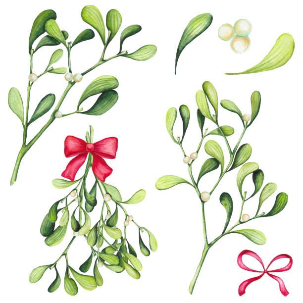Royalty Free Mistletoe Kiss Clip Art, Vector Images ...