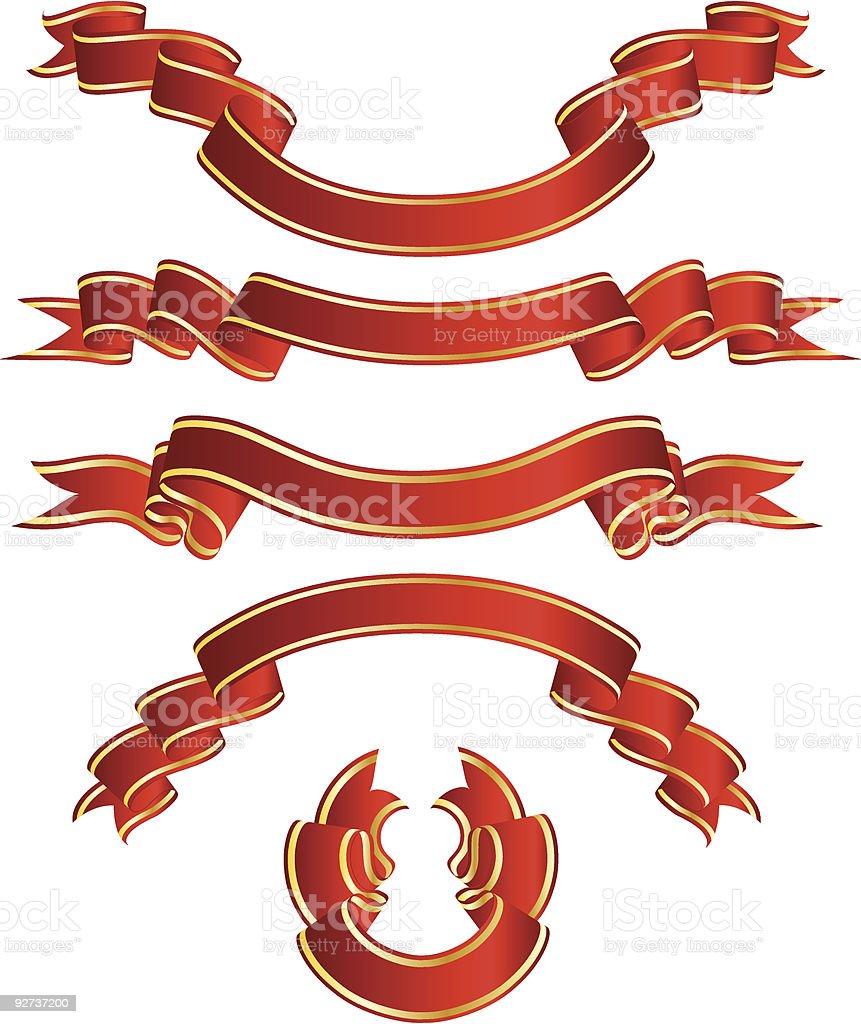 set ribbons royalty-free set ribbons stock vector art & more images of abstract