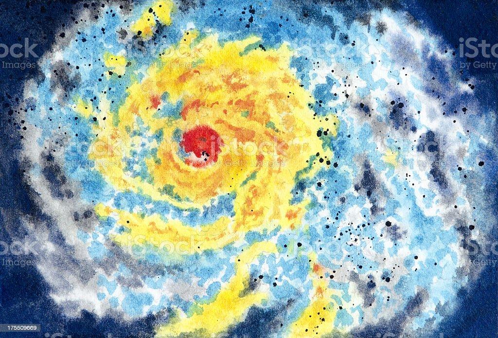 Severe Storm Warning royalty-free stock vector art