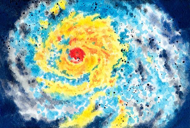 Severe Storm Warning vector art illustration
