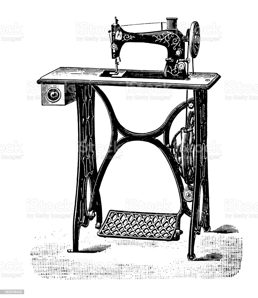 Sewing machine | Antique Design Illustrations royalty-free stock vector art