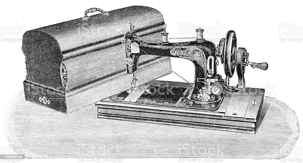 Sewing Machine royalty-free sewing machine stock vector art & more images of antique