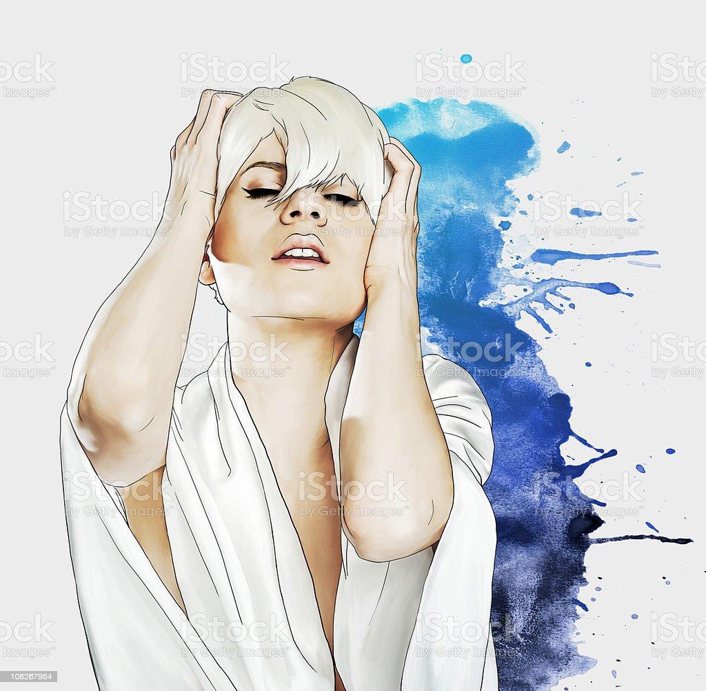 Сексуальная блондинка векторная иллюстрация