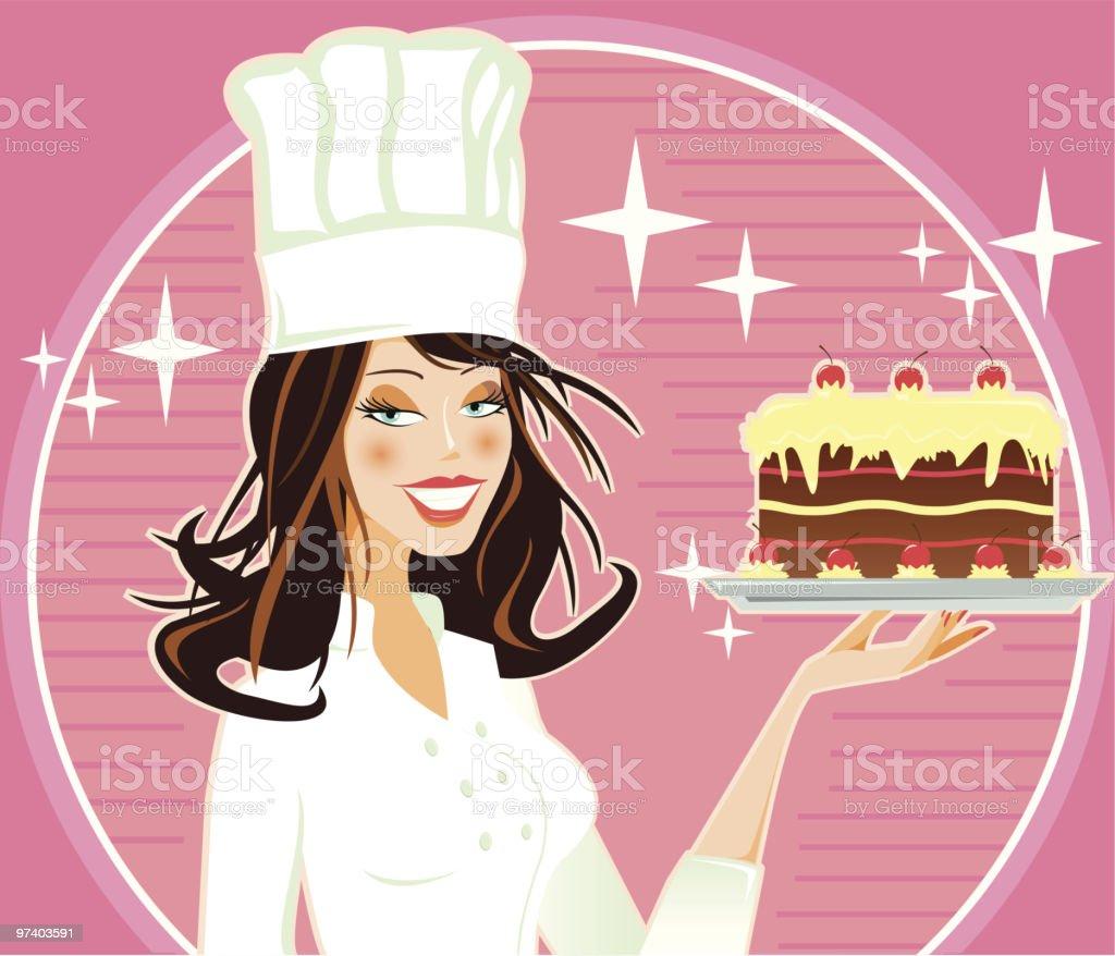 Sexy Cook royalty-free stock vector art