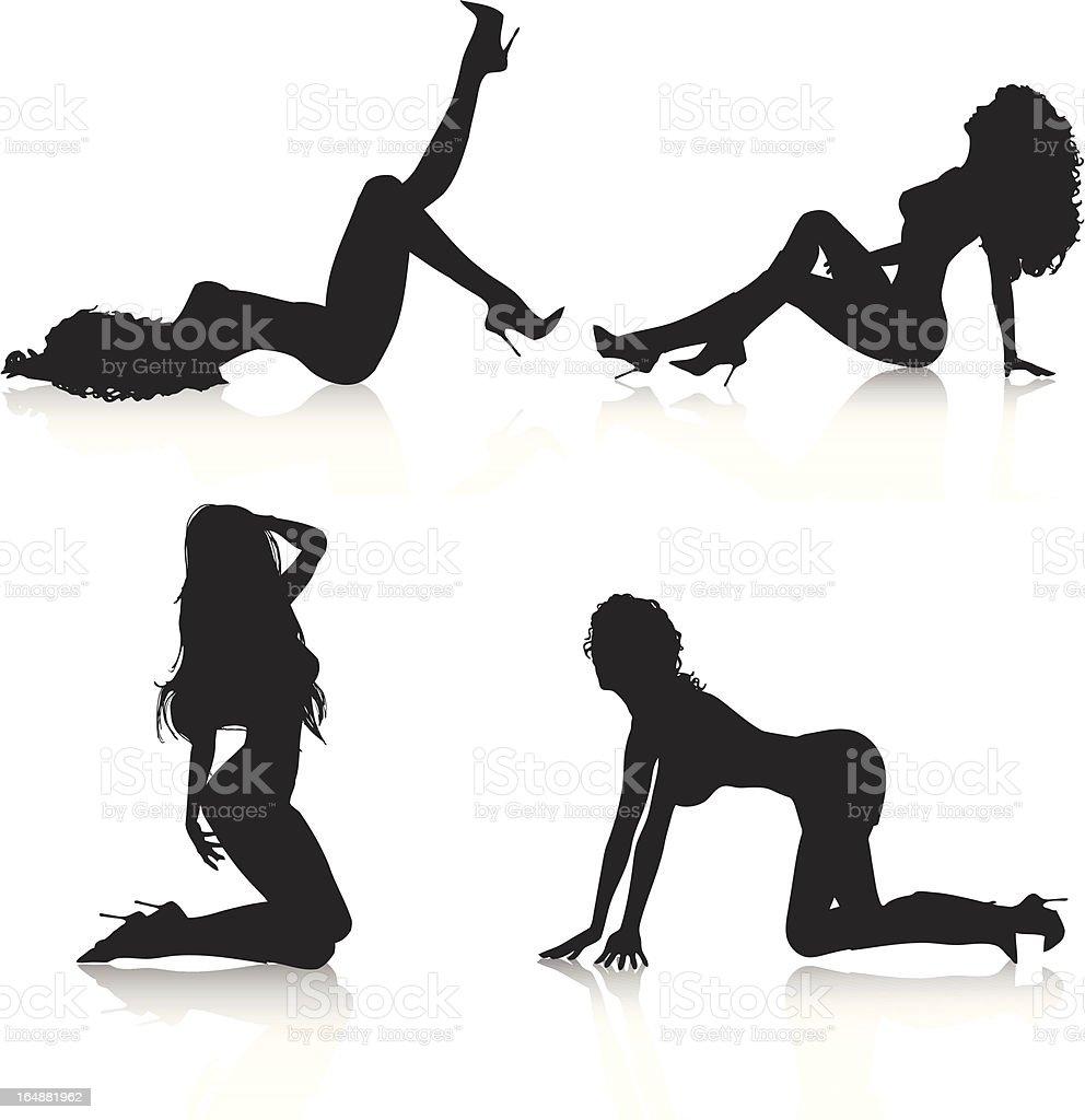 Sexy kobiety - Grafika wektorowa royalty-free (Dorosły)