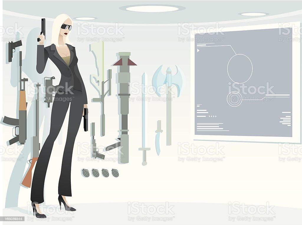 Sexy Girl Spy royalty-free stock vector art