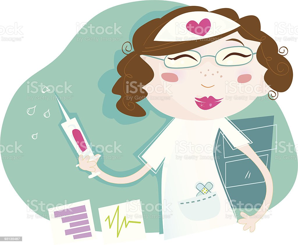 Sexy nurse vector art illustration