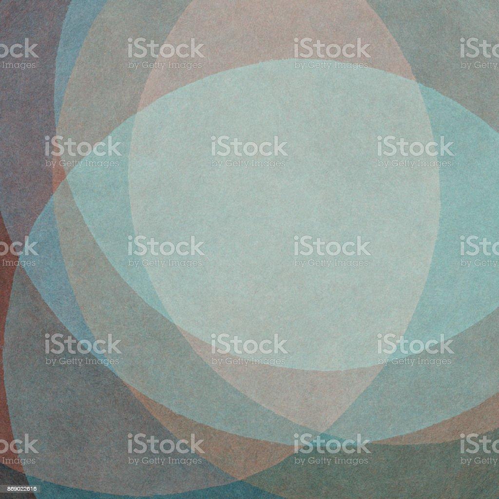 Colorati D Azzurro Chiaro sfondo astratto dipinto a mano con forme curvilinee colorate