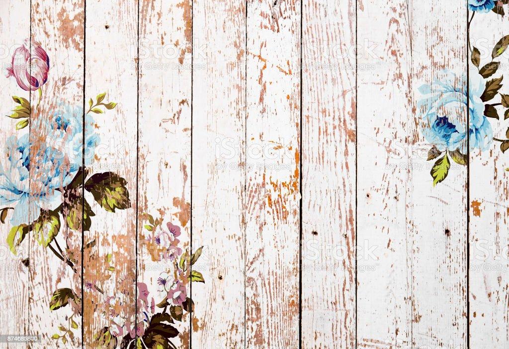 Immagini Shabby Chic.Shabby Chic Roses On Wooden Texture Immagini Vettoriali Stock E Altre Immagini Di Antico Condizione