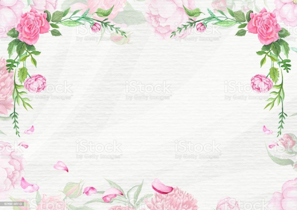 Shabby Chic Spring Card Template vector art illustration