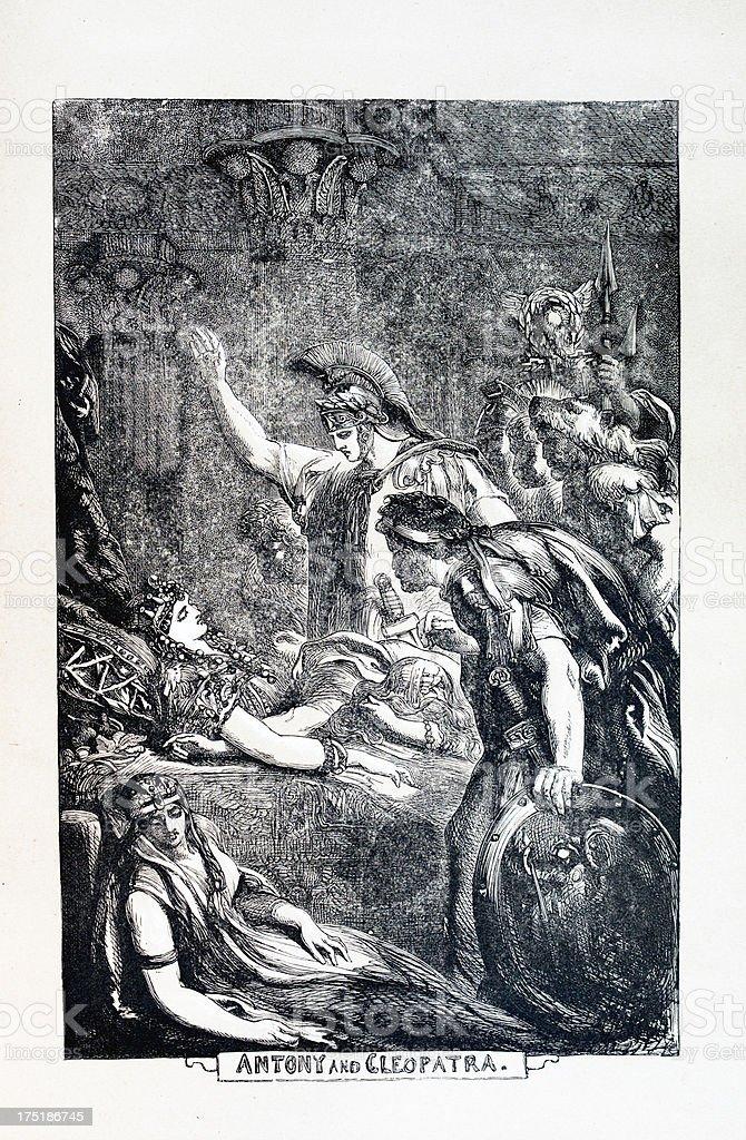 Shakespeare - Antony and Cleopatra royalty-free stock vector art
