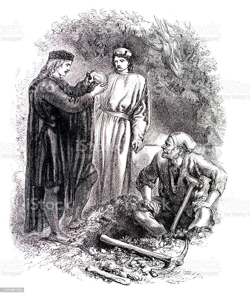 Shakespeare - Hamlet royalty-free stock vector art
