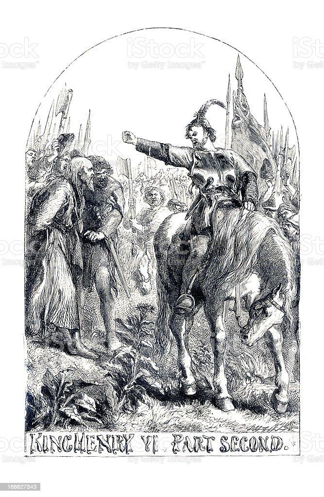 Shakespeare - King Henry VI Part 2 royalty-free stock vector art