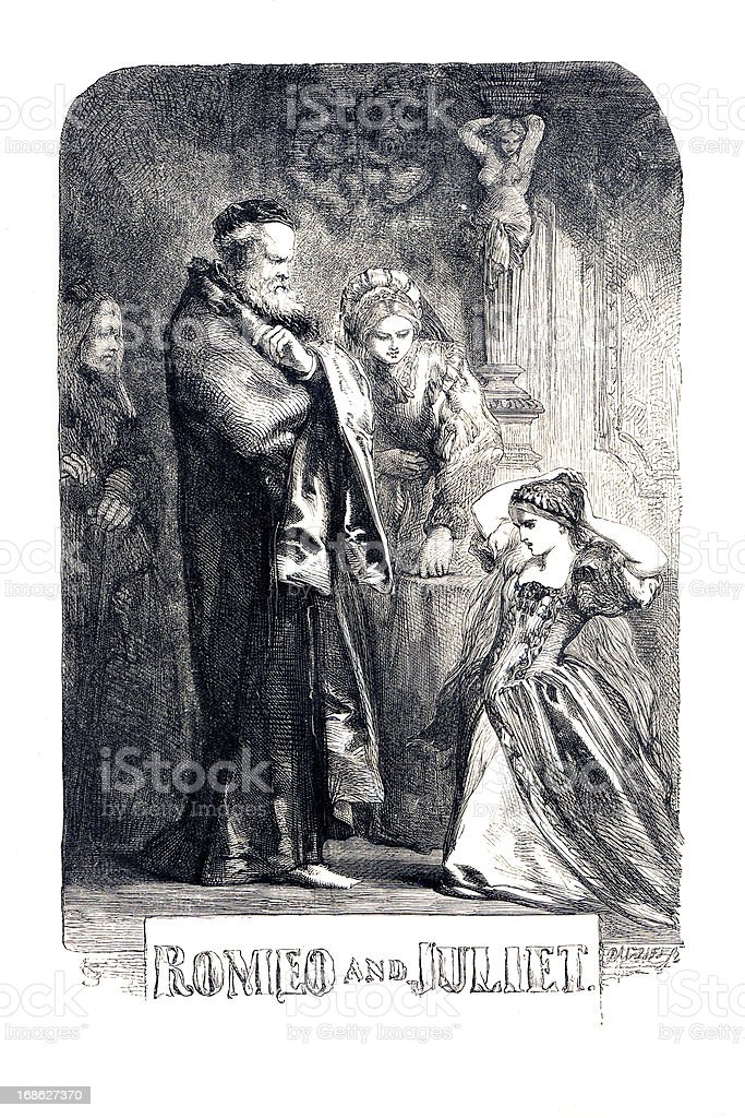 Shakespeare - Romeo and Juliet royalty-free stock vector art