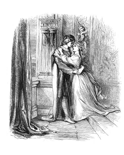 shakespeare - romeo and juliet - romeo and juliet stock illustrations, clip art, cartoons, & icons