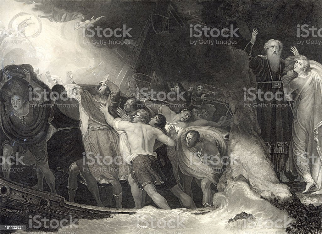 Shakespeare's The Tempest royalty-free stock vector art