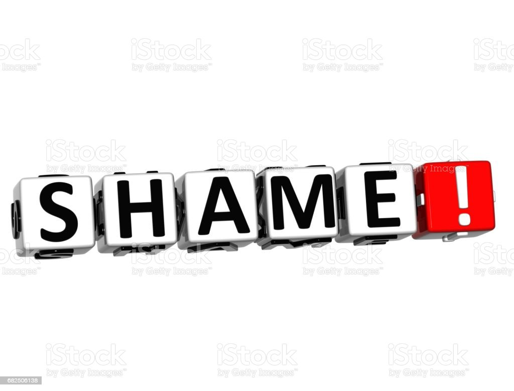 3D Shame Button Click Here Block Text royalty-free 3d shame button click here block text stock vector art & more images of abstract