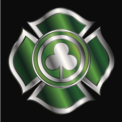 Shamrock Firemen Badge