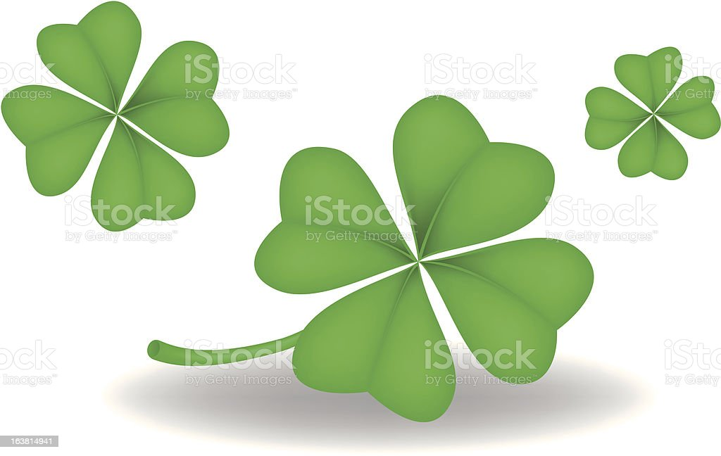 Shamrock vector art illustration