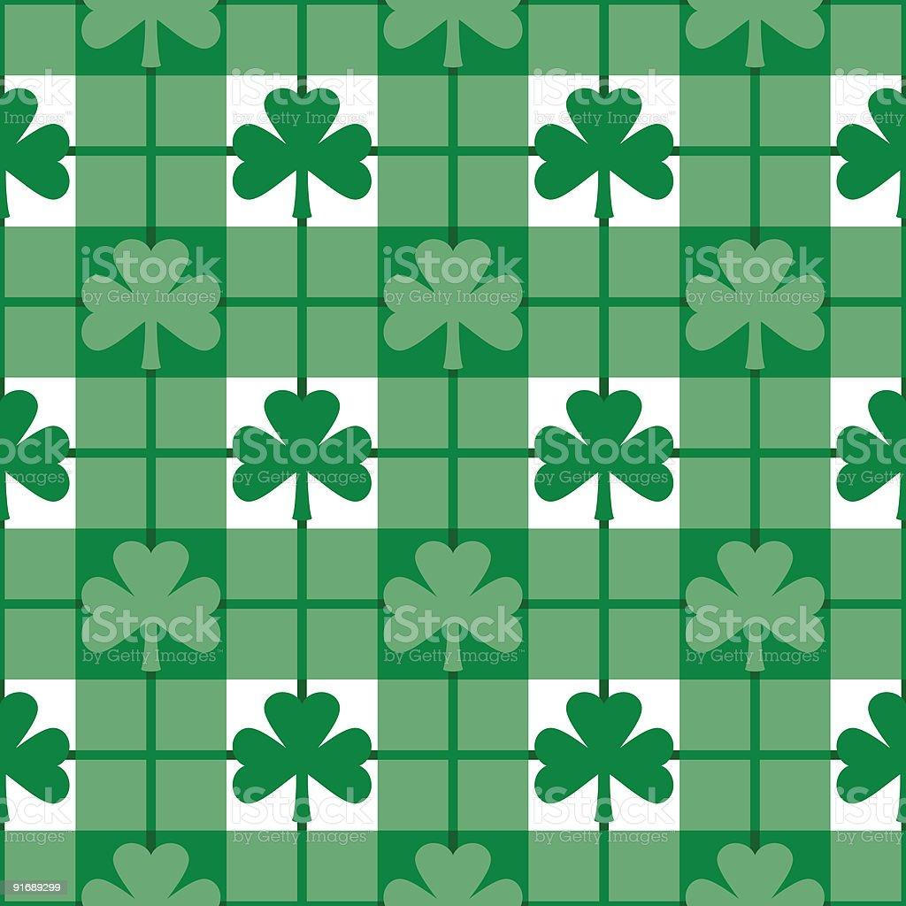 Shamrocks Plaid Pattern royalty-free stock vector art