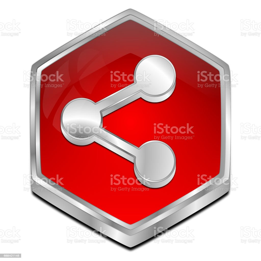 Share Button - 3D illustration vector art illustration