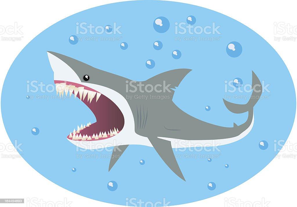 shark and bubbles royalty-free stock vector art