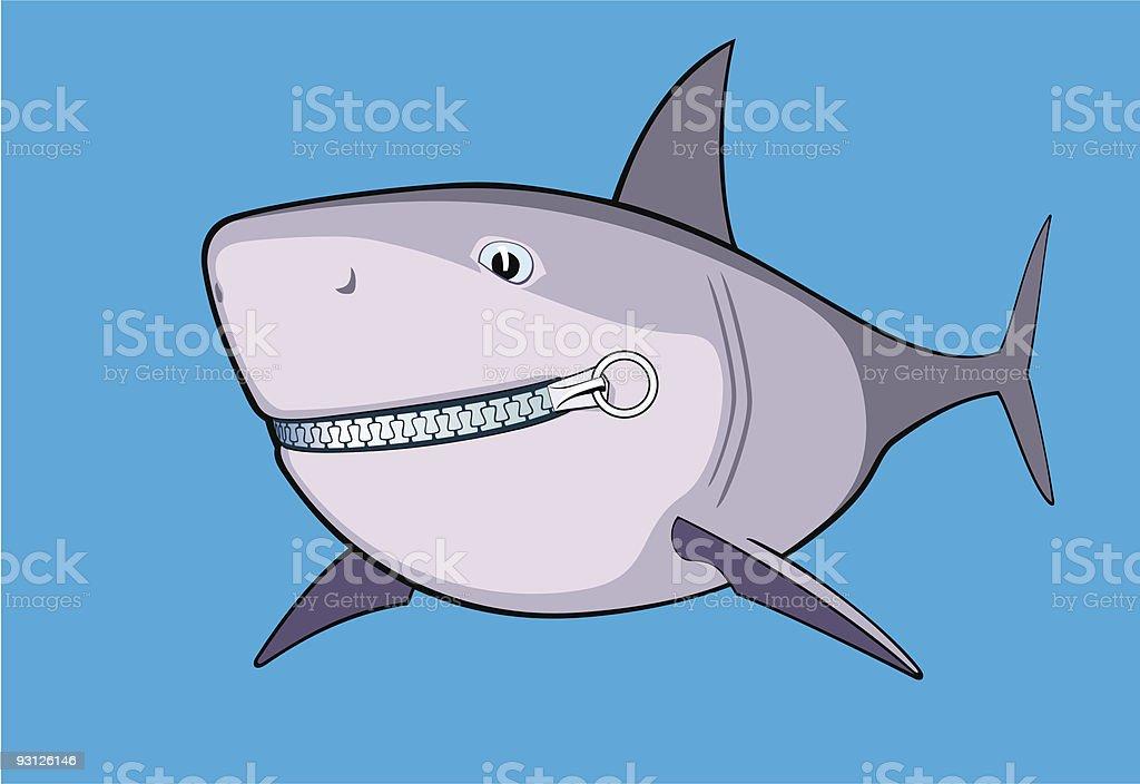 Shark zipped royalty-free stock vector art