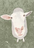 """""""Sheep vector illustration. Additional EPS file contains the same image with lines in stroke form, allowing you to convert to a brush of your choosing."""""""