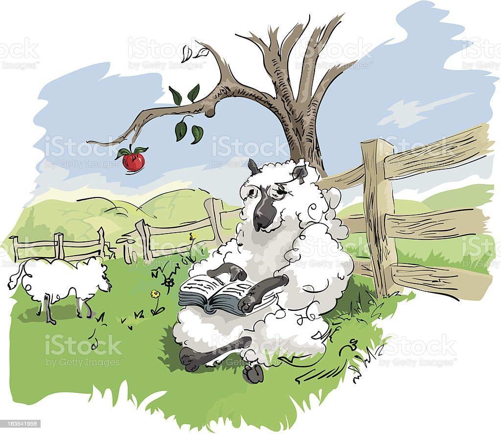 Sheep Reading royalty-free sheep reading stock vector art & more images of animal body part