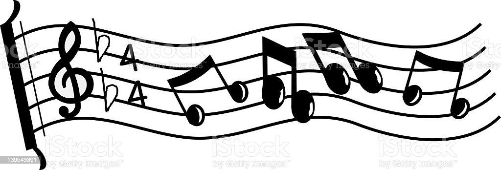 Sheet music royalty-free stock vector art