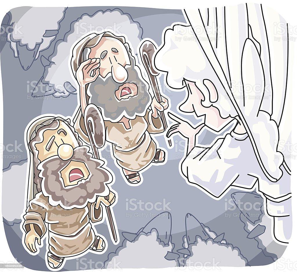 Pastores y el ángel ilustración de pastores y el ángel y más banco de imágenes de adulto libre de derechos